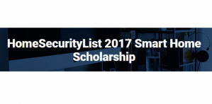 HomeSecurityList 2017 Smart Home Scholarship