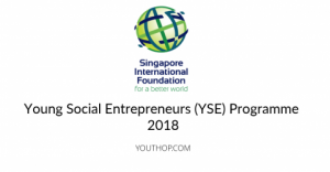 Young Social Entrepreneurs (YSE) Programme 2018 in Singapore