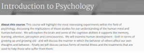 Online Course: Introduction to Psychology