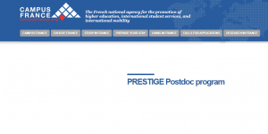 Campus France PRESTIGE Postdoctoral Fellowship Program 2018, France