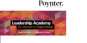 Leadership Academy for Women in Digital Media, 18-23 March 2018, USA