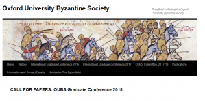 Conf/CfP - Space and Dimension in Late Antiquity and Byzantium, 23-24 February 2018, UK