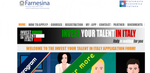 Invest Your Talent in Italy Scholarship Program 2018
