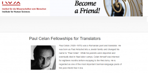 Paul Celan Fellowships for Translators 2018-2019, Austria
