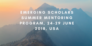 Emerging Scholars Summer Mentoring Program, 24 - 29 June 2018, USA
