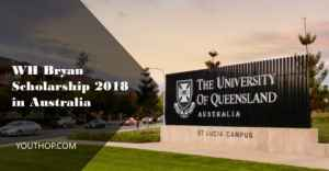 WH Bryan Scholarship 2018 at The University of Queensland
