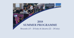 Funded Summer Programme 2018 in Brussels and Jakarta