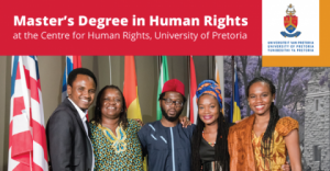Master's Human Rights and Democratisation 2018 in South Africa