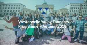 Westerwelle Young Founders Programme Autumn 2018