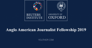 Reuters Institute Anglo American Journalist Fellowship 2019