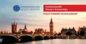 Fully Funded Commonwealth Master's Scholarships 2019 in UK