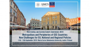 Conf/CfP - Metropolises and Peripheries of CEE Countries:  New Challenges for EU, National and Regional Policies, 11-13 September 2019, Lublin, Poland
