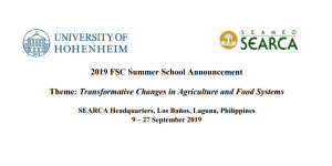 "FSC Summer School ""Transformative Changes in Agriculture and Food Systems"""