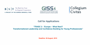 "Call for applications – ""TRASC 2 – 'Europe – What Next?"