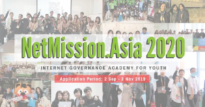 NetMission.Asia 2020 – Internet Governance Academy for Youth