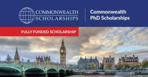 Commonwealth PhD Scholarships 2020 in UK