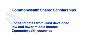 Commonwealth Shared Scholarships for Full-time Master's Study