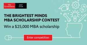 The Economist's Brightest Minds MBA Scholarship Contest 2020 (Win $25,000 Scholarship)