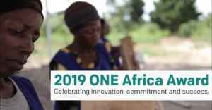 2019 ONE Africa Award (Win US$100,000)