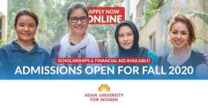 Asian University for Women- Admissions Open for Fall 2020 (Scholarships  Financial Aid Available)