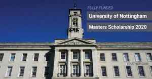 University of Nottingham-Developing Solutions Masters Scholarship 2020