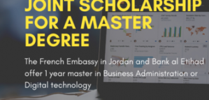 Fully Funded Master Scholarship in Technology & Business for Jordaniains from the Embassy of France 2020