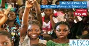 UNESCO Prize for Girls' and Women's Education 2020 (Award of $50,000)