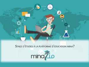 Internship at mina7 education platform for international students:
