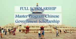 Youth of Excellence Scheme of China: Master Program Chinese Government Scholarship