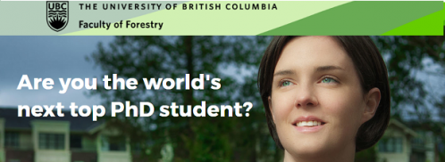 Forestry PhD Research Fellowship in Canada