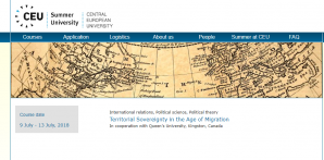 Summer School - Territorial Sovereignty in the Age of Migration, 9 - 13 July 2018, Hungary