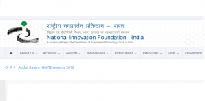 Fondation nationale pour l'innovation, Inde Dr A P J Abdul Kalam Prix IGNITE 2018