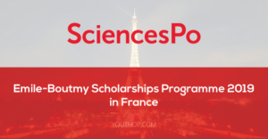 Programme de bourses Emile-Boutmy de Sciences Po 2019 en France