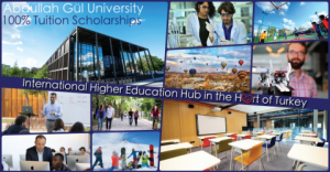 2019 Undergraduate Student Tuition Scholarship at Abdullah Gül University, Turkey