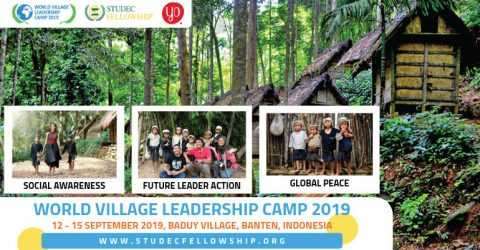 World Village Leadership Camp 2019 in Baduy Tribe Village, Indonesia