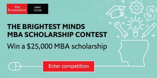 The Economist's Brightest Minds MBA Scholarship Contest 2020