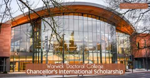 Warwick Doctoral College Chancellor's International Scholarship 2020/21