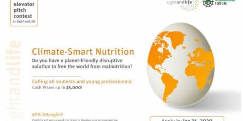 "The Elevator Pitch Contest – ""Climate Smart Innovations for Better Nutrition"""