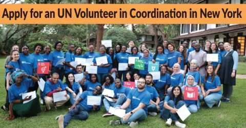 Apply for an UN Volunteer in Coordination in New York