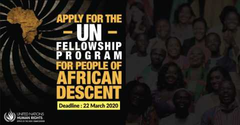 2020 Fellowship Programme in Geneva for People of African Descent