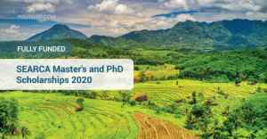 FULLY FUNDED: SEARCA Master's and PhD Scholarships 2020