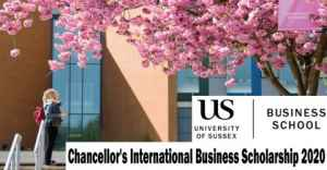 Chancellor's International Business Scholarship 2020 – in University of Sussex