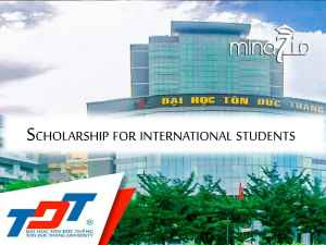 100 scholarships for different levels in Vietnam at the University of Ton Duc Thang 2020/2021: