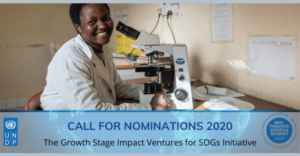 Growth Stage Impact Ventures for SDGs : 2020 Call for Nominations