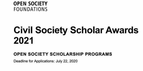 The Civil Society Scholar Awards 2021